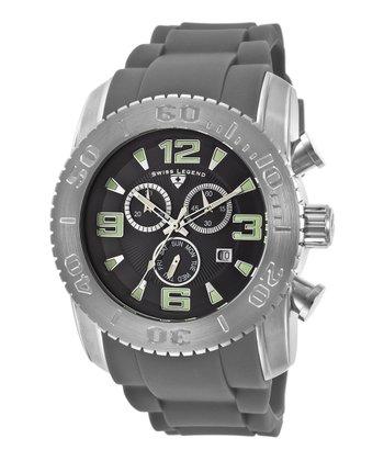 Black & Gray Commander Chronograph Watch - Men