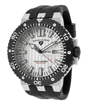 Light Silver Textured Challenger Watch - Men