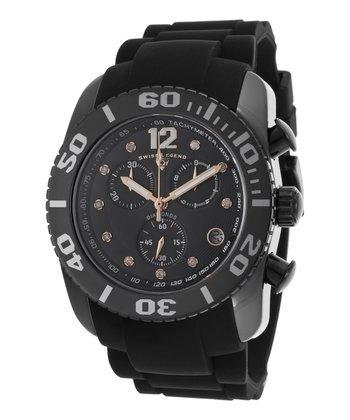 Black Commander Chronograph Watch - Men