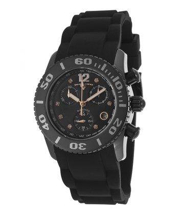Black & Gold Ceramic Commander Chronograph Watch - Men