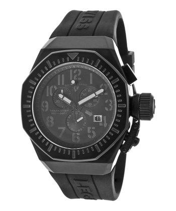 Black Trimix Diver Chronograph Watch - Men