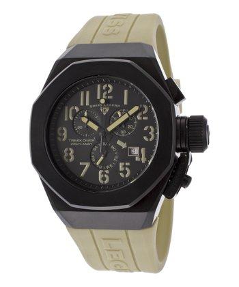 Khaki & Black Trimix Diver Chronograph Watch - Men