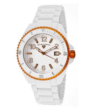 White & Orange Luminar High-Tech Ceramic Watch - Men