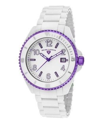 White & Purple Luminar High-Tech Ceramic Watch - Men