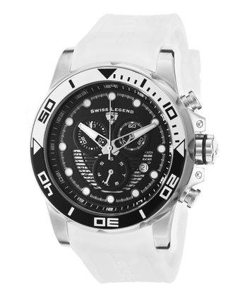 Black & White Avalanche Chronograph Watch - Men