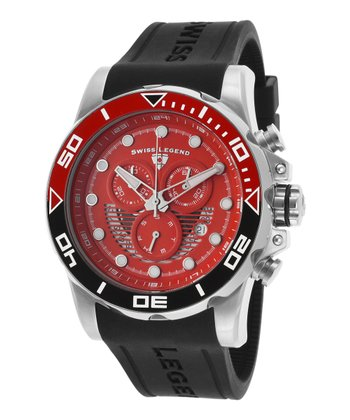 Red & Black Avalanche Chronograph Watch - Men