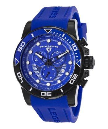 Blue & Black Avalanche Chronograph Watch - Men