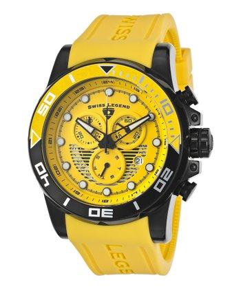 Yellow & Black Avalanche Chronograph Watch - Men