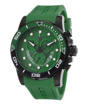 Green & Black Avalanche Chronograph Watch - Men