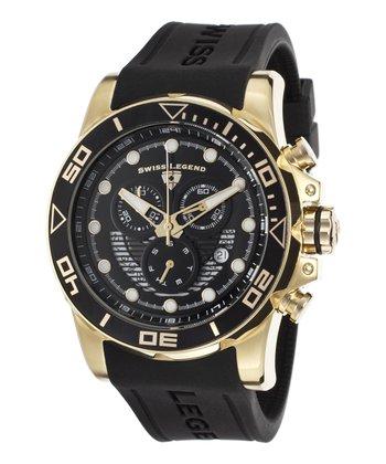 Black & Gold Avalanche Chronograph Watch - Men