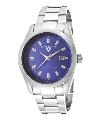 Blue & Silver Classic Watch - Men
