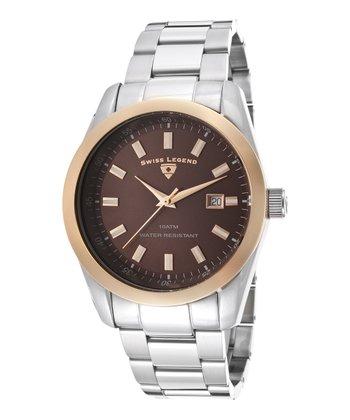 Brown & Gold Classic Watch - Men