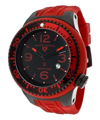 Red & Black Neptune Watch - Men