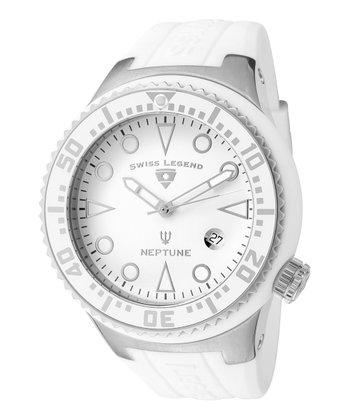 White Neptune Watch - Men