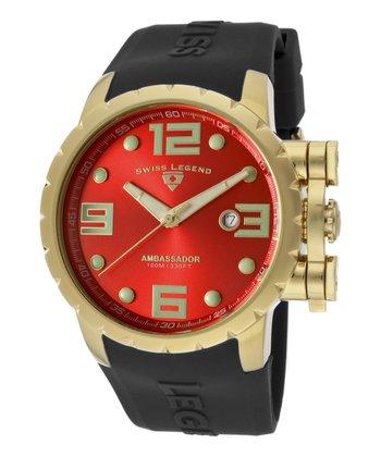 Red & Gold Ambassador Watch - Men