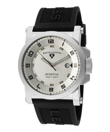 Black & White Sportiva Watch - Men
