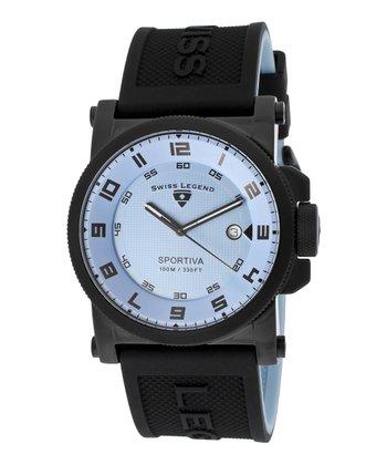 Baby Blue & Black Sportiva Watch - Men
