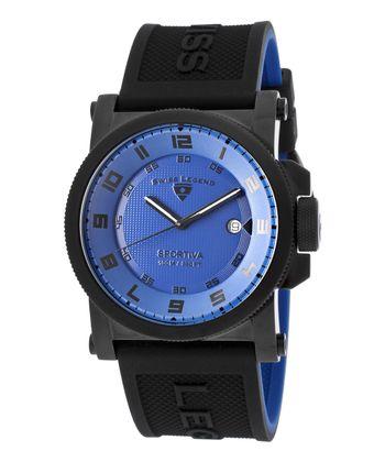 Blue & Black Sportiva Watch - Men