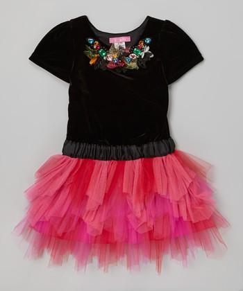Black & Fuchsia Camille Tutu Dress - Toddler & Girls