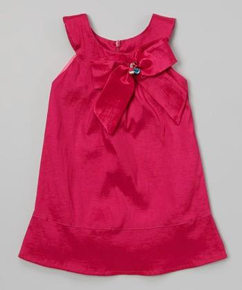 Fuchsia Camile Big Bow Dress - Toddler & Girls