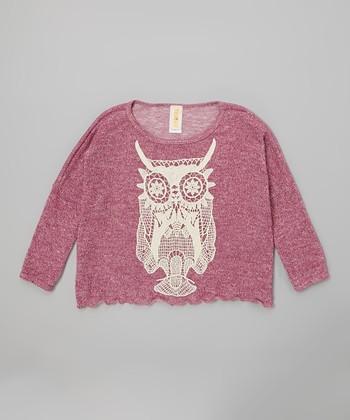 Purple Butterfly Gypsy Owl Top - Girls
