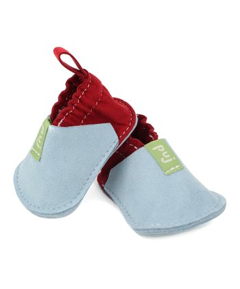 Sky Blue & Red Booties