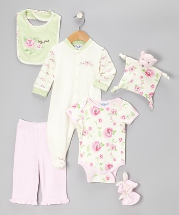 Kyle & Deena Pink Baby Girl 7-Piece Layette Set