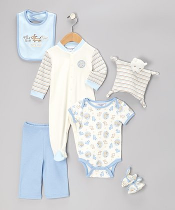 Blue Puppies 7-Piece Layette Set