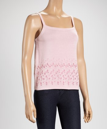 Pink Embroidery Camisole