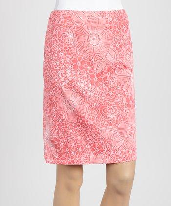 Coral Daisy Skirt
