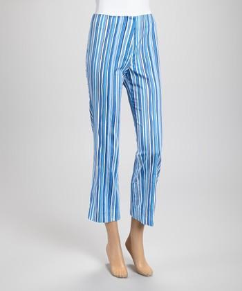 Blue Stripe Ankle Pants