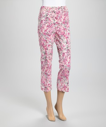 Pink Impressionist Capri Pants