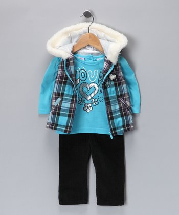 Ocean Wind Plaid Vest Set - Infant