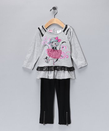 Heather Gray Ballerina Tunic & Leggings - Infant