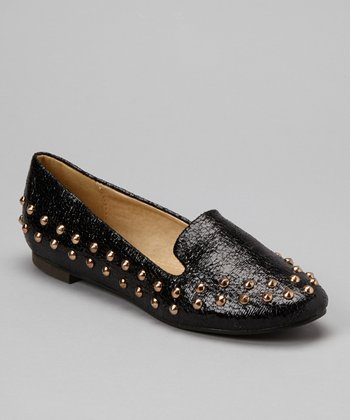Black Studded Loafer