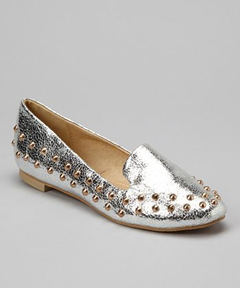 Silver Studded Loafer