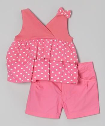 Pink Polka Dot Tank & Shorts - Infant, Toddler & Girls