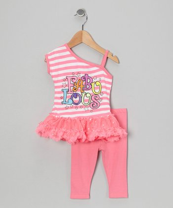 Pink Stripe 'Fabulous' Tunic & Leggings - Infant