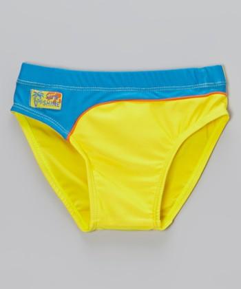 Sweet & Soft Yellow & Blue Swim Diaper - Infant