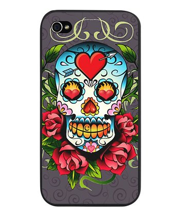 Gray Sugar Skull Case for iPhone 4/4s