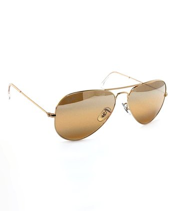 Arista Photo Yellow 58-mm Aviator Large Metal Sunglasses