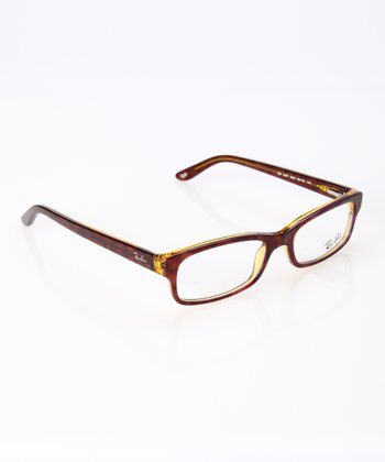 Havana & Yellow Square Frame Glasses