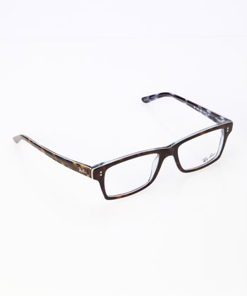 Havana & Azure Square Frame Glasses