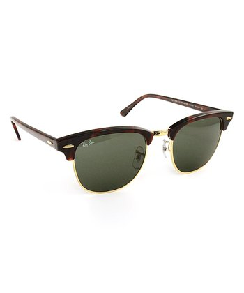 Tortoise 51-mm Clubmaster Sunglasses