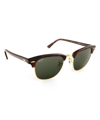 Tortoise 49-mm Clubmaster Sunglasses