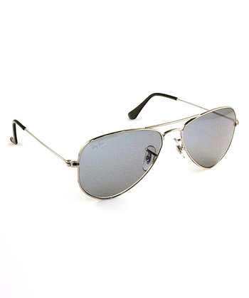 Silver 52-mm Metal Man Sunglasses