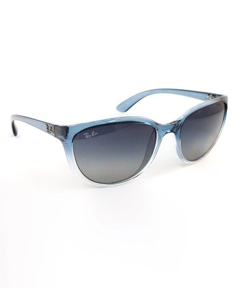 Blue Translucent Emma Sunglasses