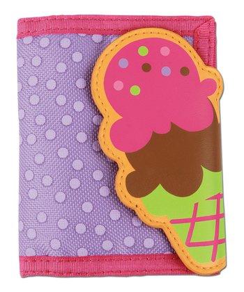 Purple Ice Cream Cone Wallet