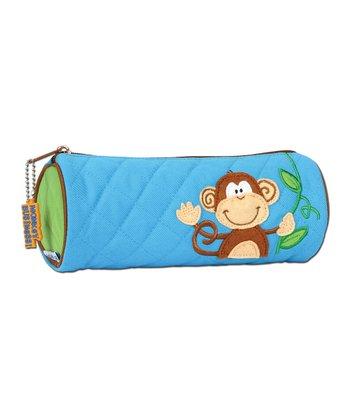 Blue Monkey Pencil Pouch
