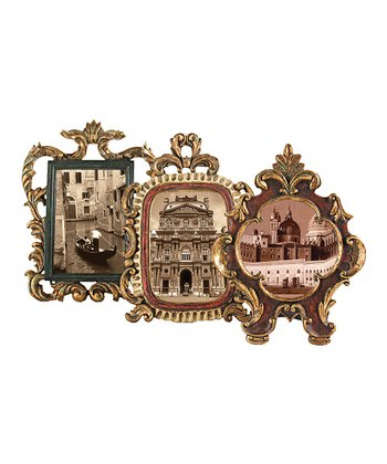 Antique Gold Florentine Frame Set